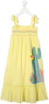 Billieblush Cactus-Print Smocked Dress