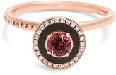 SELIM MOUZANNAR Diamond, rhodolite, enamel & pink-gold Mina ring