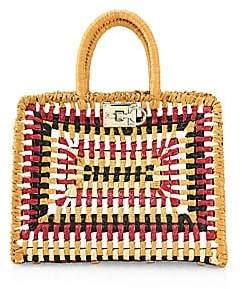 Salvatore Ferragamo Women's Small Studio Woven Top Handle Bag