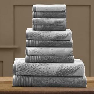Impressions Edaline Marbled Cotton 10-Piece Towel Set