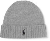 Polo Ralph Lauren Ribbed Merino Wool Beanie - Gray