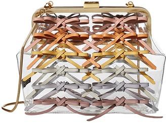 ZAC Zac Posen Lacey Frame Clutch - Rainbow (Clear) Handbags