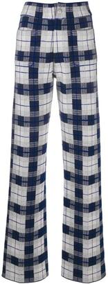 Barrie Tartan Jacquard Straight-Leg Trousers