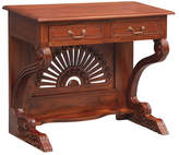 2 Drawer Study Desk Finish: Mahogany