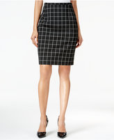Tommy Hilfiger Windowpane Pencil Skirt