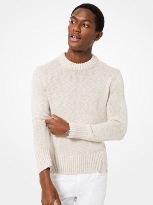 Michael Kors Cotton and Linen Pullover