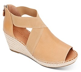 Gentle Souls by Kenneth Cole Women's Charli Cross Elastic Espadrille Wedge Sandals