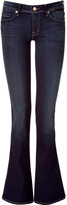 7 For All Mankind Seven Dark Blue Dazzling Skinny Flared Jeans