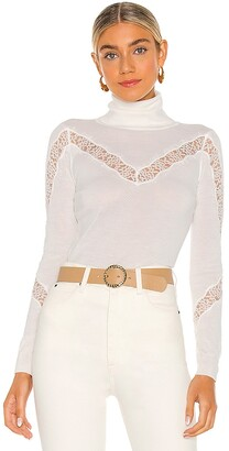 Milly X REVOLVE Lace Inset Sweater