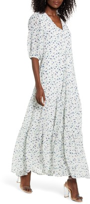 CODEXMODE Floral Print Maxi Dress