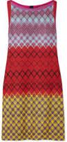 Missoni Metallic Crochet-knit Mini Dress - Red