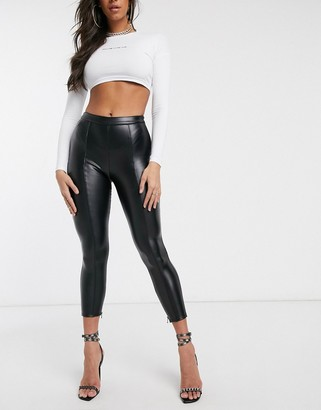 Couture The Club faux leather legging in black