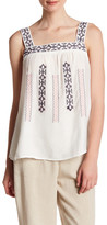 Blu Pepper Sleeveless Embroidered Woven Tank