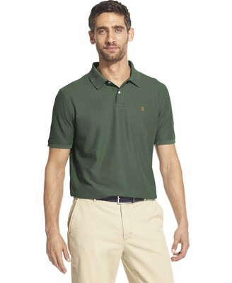 Izod Men's Clearance Fit Advantage Performance Short Sleeve Solid Polo