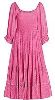 LoveShackFancy Women's Rigby Voile Smocked Midi Dress