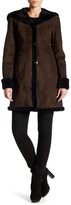 Blue Duck Genuine Dyed Shearling Hooded Coat