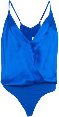 Mason by Michelle Mason Wrap-effect Silk-charmeuse Bodysuit