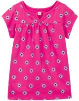 Tea Collection Cotoca Split Neck Dress (Baby Girls)