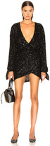 ATTICO Sequined Mini Dress in Black   FWRD