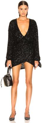 ATTICO Sequined Mini Dress in Black | FWRD