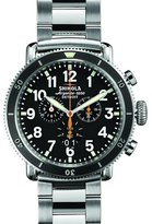 Shinola 48mm Runwell Sport Chrono Watch, Stainless Steel/Black