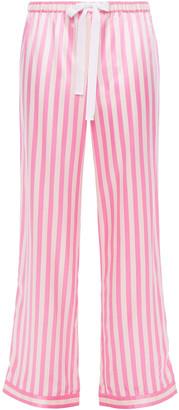 Morgan Lane Chantal Striped Charmeuse Pajama Pants