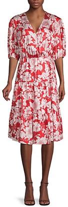 Rebecca Minkoff Floral-Print Faux Wrap Dress