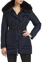 Moncler Fur-Collar Puffer Coat