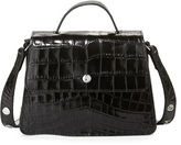 Elizabeth and James Eloise Mini Crocodile-Embossed Satchel Bag