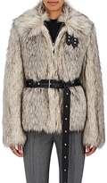 Helmut Lang Women's Faux-Fur Belted Jacket