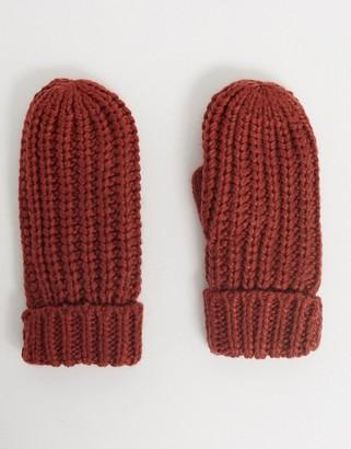 Ichi knitted mittens-Red