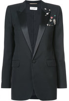 Saint Laurent embellished fitted blazer