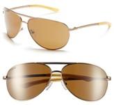 Smith Optics Women's Serpico 65Mm Polarized Aviator Sunglasses - Matte Desert/ Polar Brown
