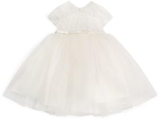 Sarah Louise Satin Bow Ballerina Length Dress