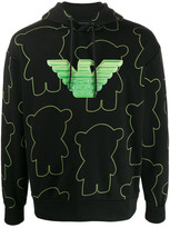 Emporio Armani Cotton Manga Bears Printed Sweatshirt