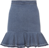 Exclusive for Intermix Kara Frayed Mini Skirt