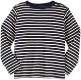 Jo-Jo JoJo Maman Bebe Breton Top (Toddler/Kid) - Navy/Ecru Stripe-5-6 Years