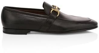 Salvatore Ferragamo Sherman Gancini Bit Leather Loafers