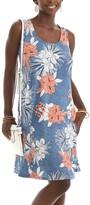 Shoreline Women's Casual Dresses CORAL - Coral & Blue Floral Sleeveless A-Line Dress - Women & Plus