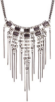 Stephan & Co Statement Stone & Fringe Necklace