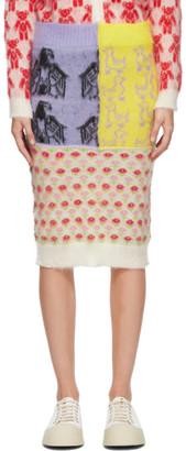 Ashley Williams Multicolor Patchwork Mid-Length Skirt
