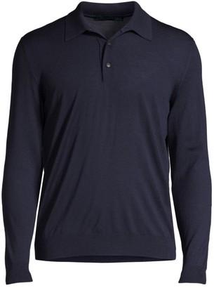 Kiton Long-Sleeve Cotton Polo Top