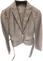HUGO BOSS Purple Linen Jacket for Women