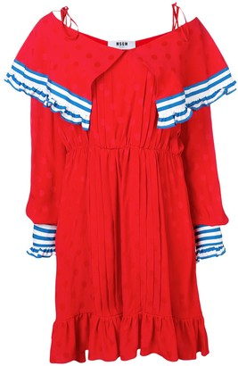 MSGM contrast panels short dress