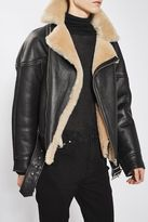 Boutique Shearling aviator jacket