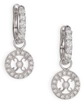 Jude Frances Classic Diamond & 18K White Gold Earring Hugs Kisses Charms
