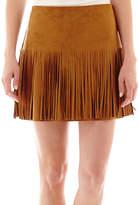 JCPenney REWIND Rewind Faux-Suede Fringe Skirt