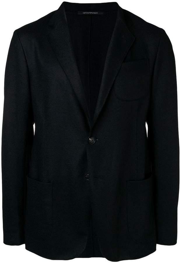 Emporio Armani Unlined single-breasted blazer