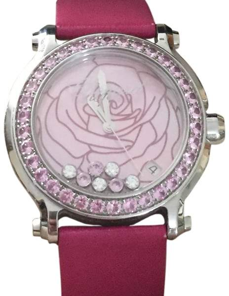 Chopard Limited Edition Happy Sport La vie en Rose Pink Mother Of Pearl With Rose Dial Womens Watch