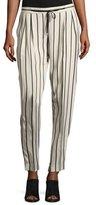 Antonelli Tortona Striped Slouchy Straight-Leg Pants, Multi